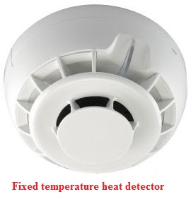 انواع حساسات كواشف الحرارة fixed temperature heat detectors