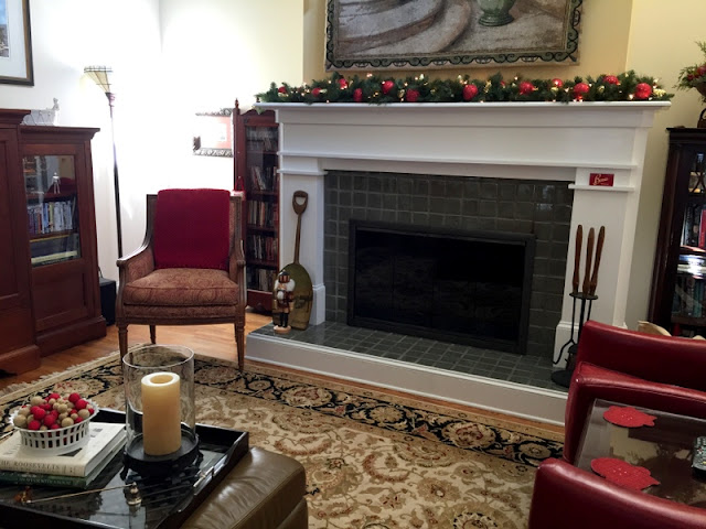 Odd Fireplaces Created Of Naval Mines Odd Fireplaces Created Of Naval Mines Stoffel Dec 2016 mantel wreath