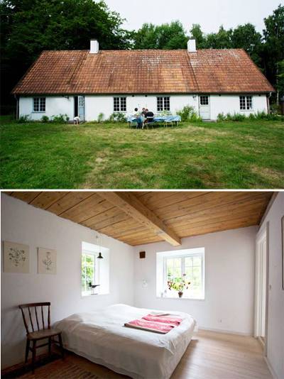 vacation house, sweden, authentic, woods, rental home