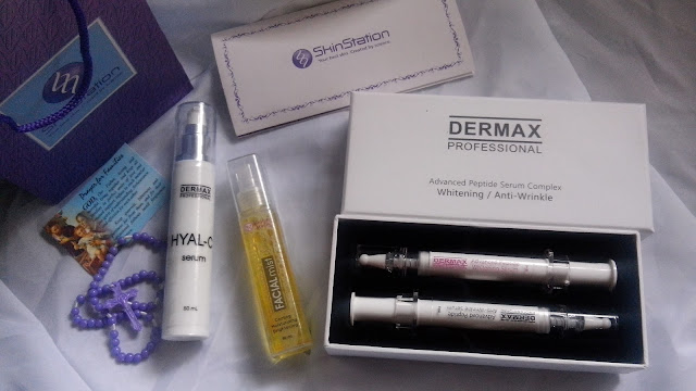 skinstation, hyal-c, facial mist, dermax advanced peptide serum,