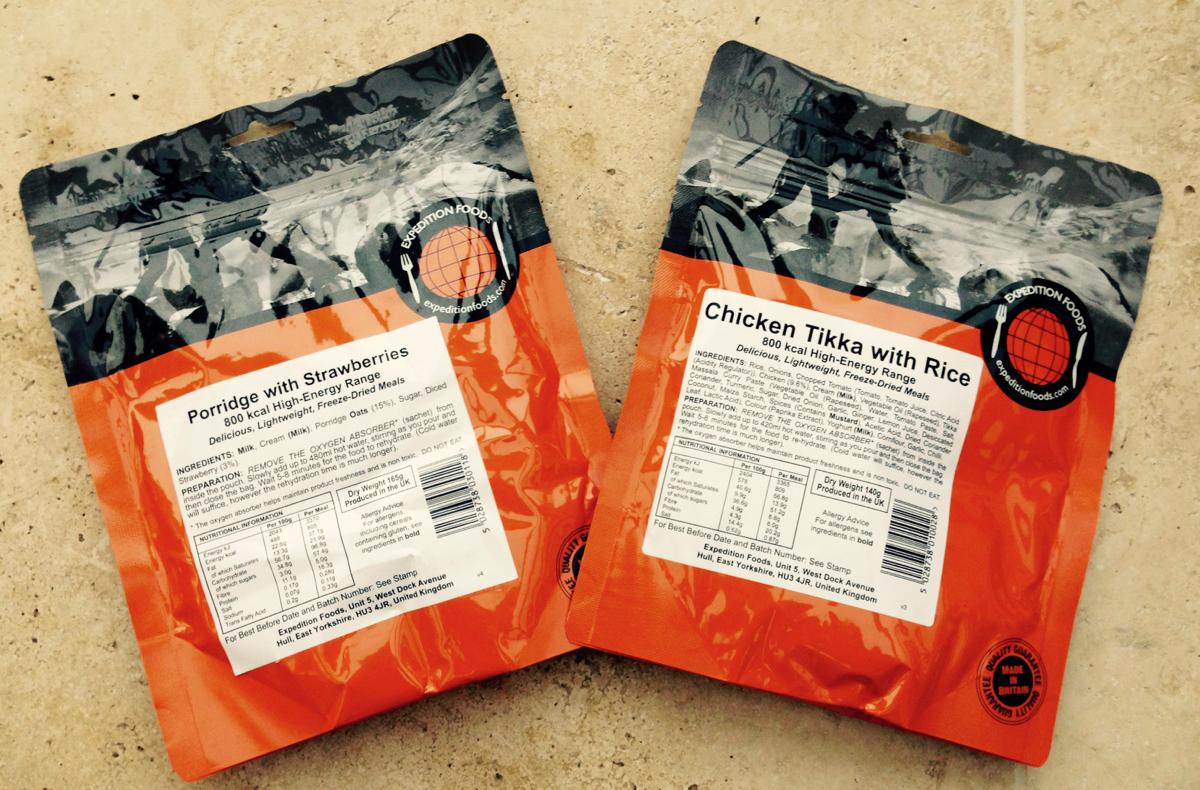 Bikepacking emergency food