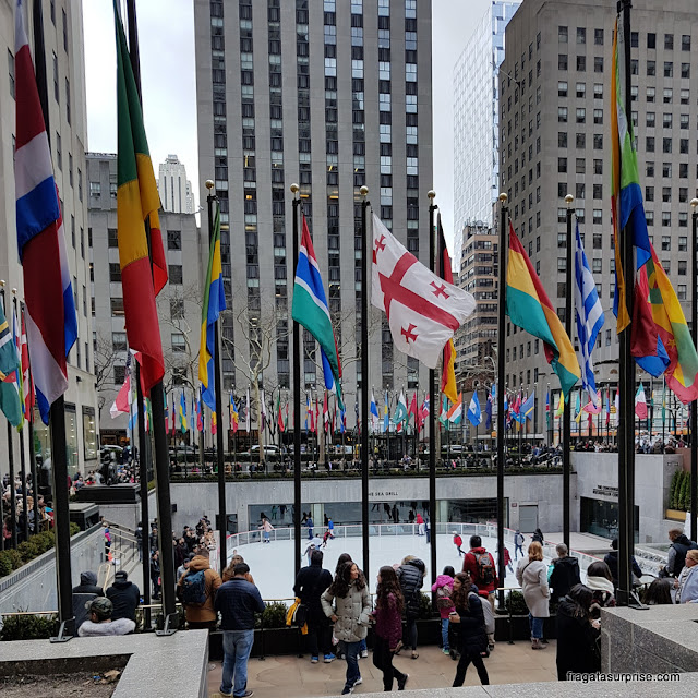 Rockefeller Plaza, no Rockefeller Center, Nova York