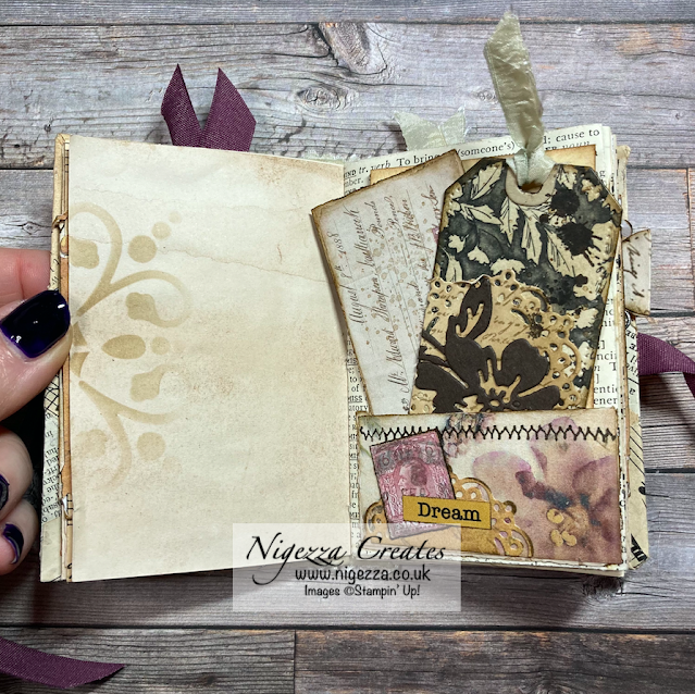 Junk Journalling With Stampin' Up! A Mini Journal With A Loo Roll Cover!