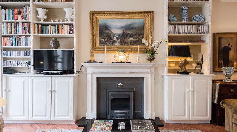 Dormire nelle case più belle di Londra: Victorian Garden camino