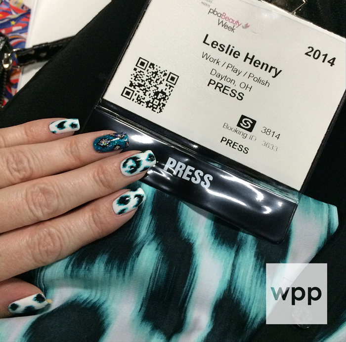 My press badge and first mani of the show