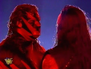 WWE / WWF - In Your House 19: D-Generation-X - Kane confronted Undertaker in his match with jeff Jarrett