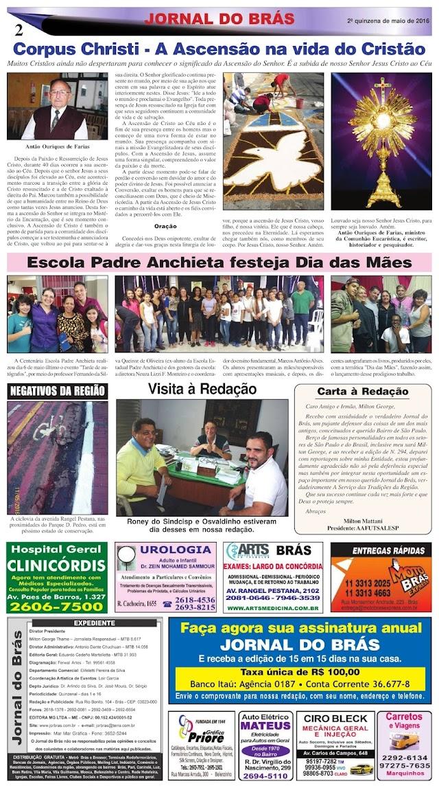 Destaques da Ed. 295 - Jornal do Brás