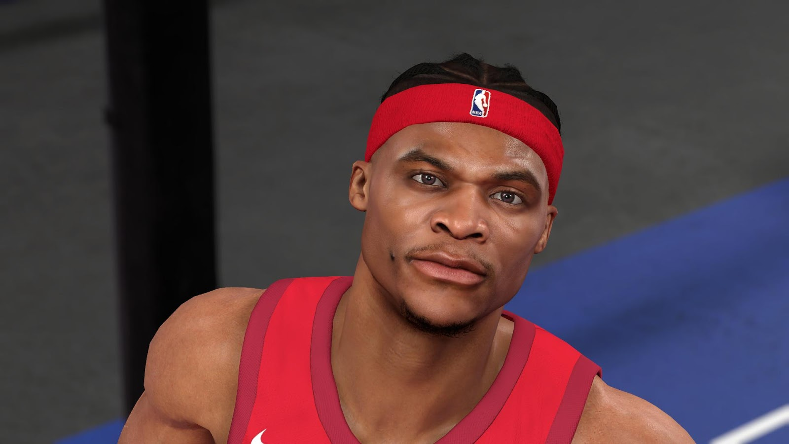 RUSSELL WESTBROOK BRAID HAIR HD CYBERFACE BY AWEI [FOR 2K19