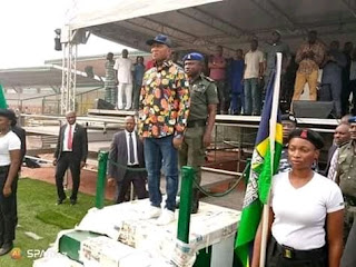 Photos Of Sacked Bayelsa Governor, Lyon Rehearsing Ahead Of Tomorrows Swearing