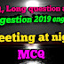 SAQ Questions and answers of meeting at night by soumitra sir