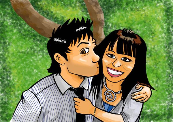En Enamoradas Caricaturas Parejas