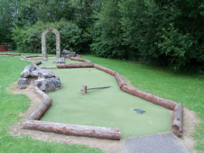 Adventure Golf course in Andover, July 2011