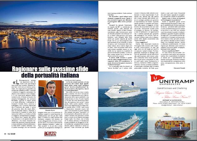 DICEMBRE 2020 PAG. 8 - Ragionare sulle prossime sfide della portualità italiana