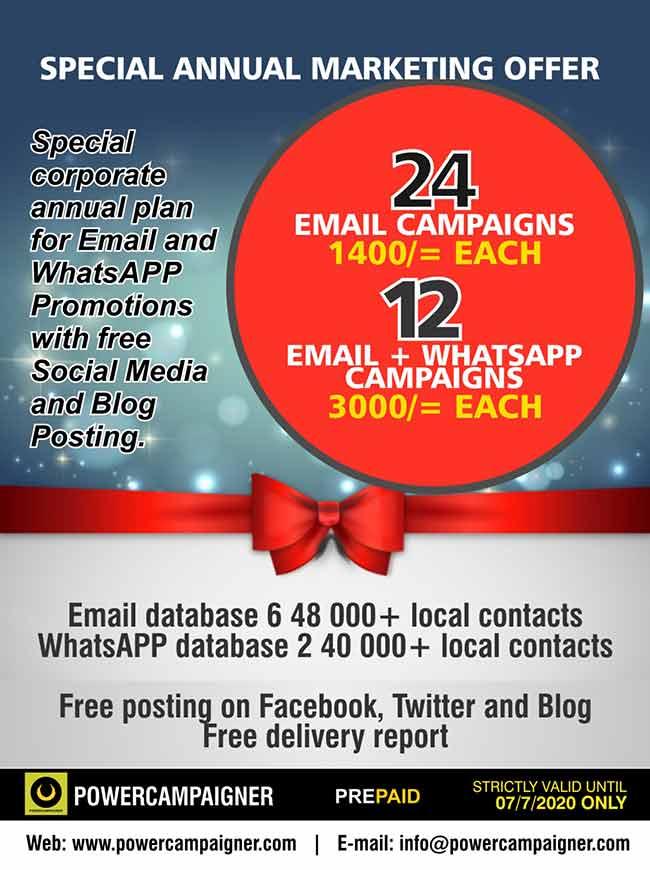 Corporate Marketing Annual Plan | Email, WhatsApp.