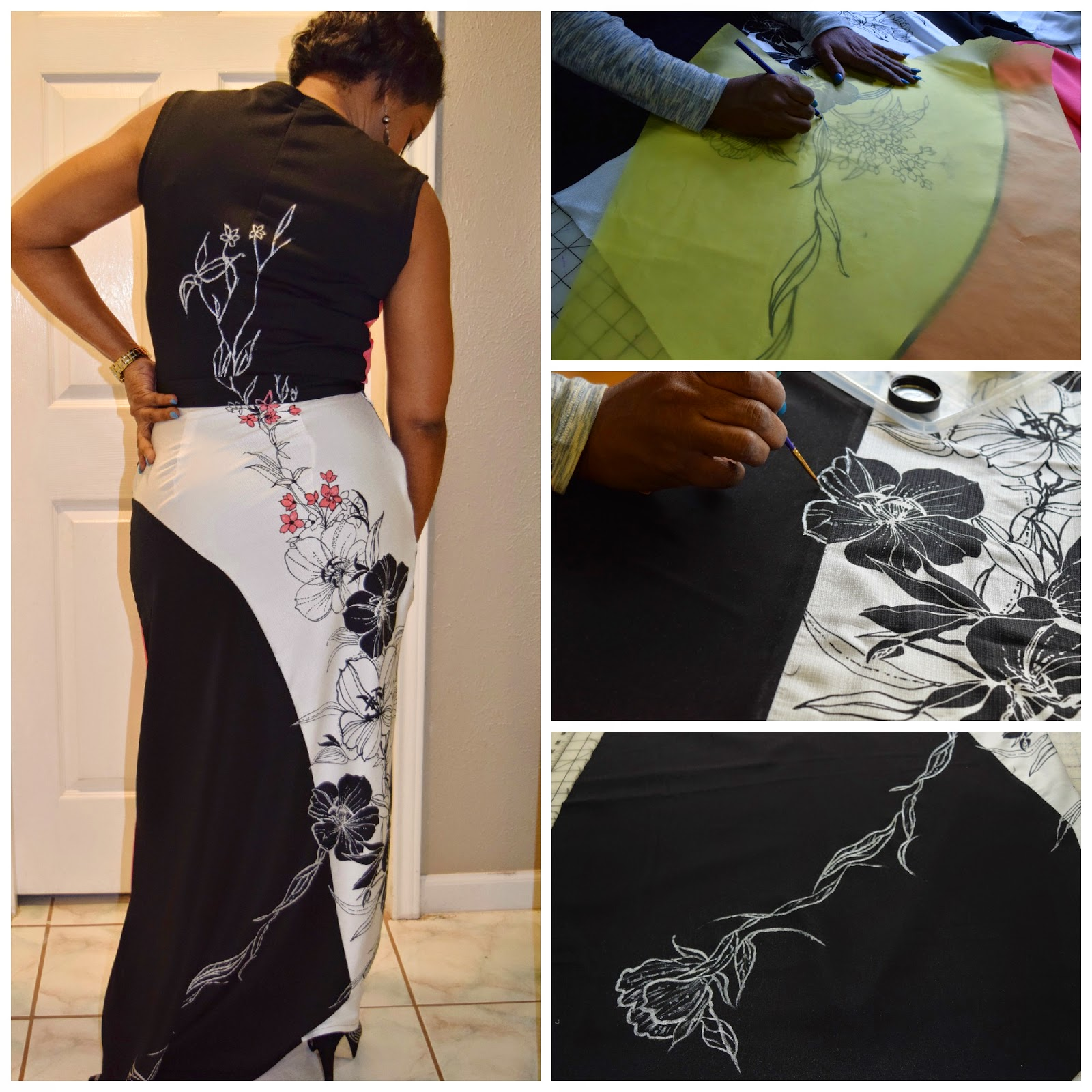 contest entry for sewing expo.  painting fabric with sewtofit.com
