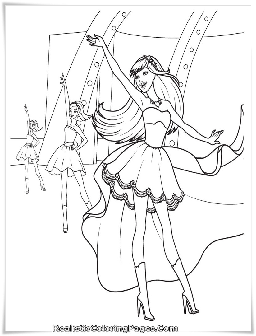 Download Barbie Dancing Princes Coloring Pages Printable For Girls