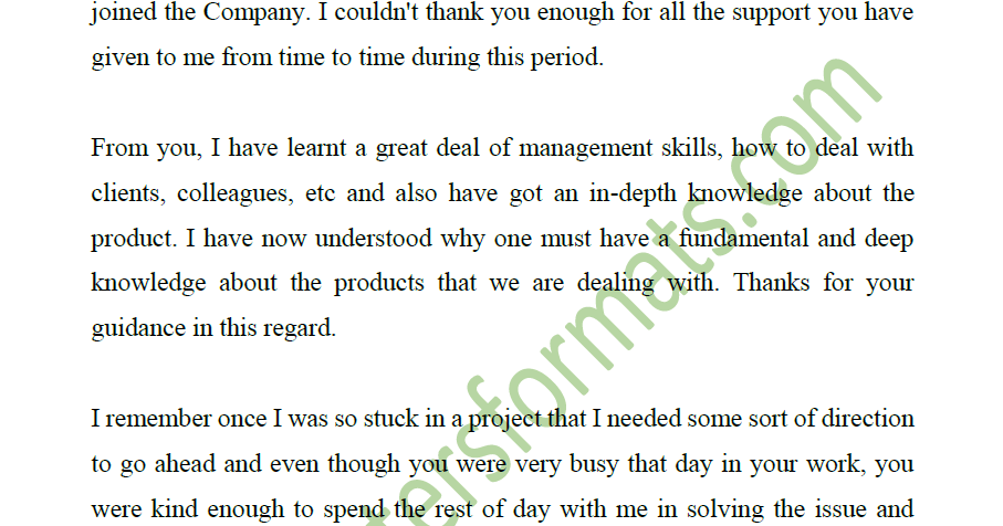 Thank you Email and Letter to your Boss when Leaving a Job