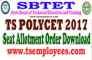 TS Polycet 2017 Seat Allotment Order Download Polytechnic Ceep @ polycetts.nic.in