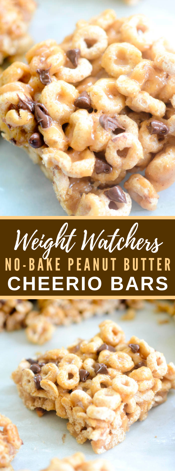WEIGHT WATCHERS NO-BAKE PEANUT BUTTER CHEERIO BARS #healthy #diet