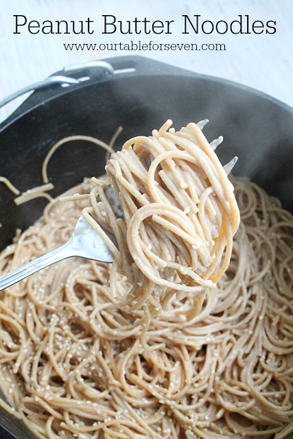 Peanut Butter Noodles from Table for Seven