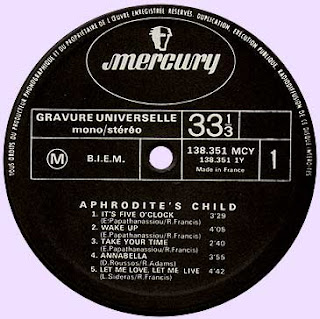 APHRODITE'S CHILD - IT'S FIVE O'CLOCK (1969) lp
