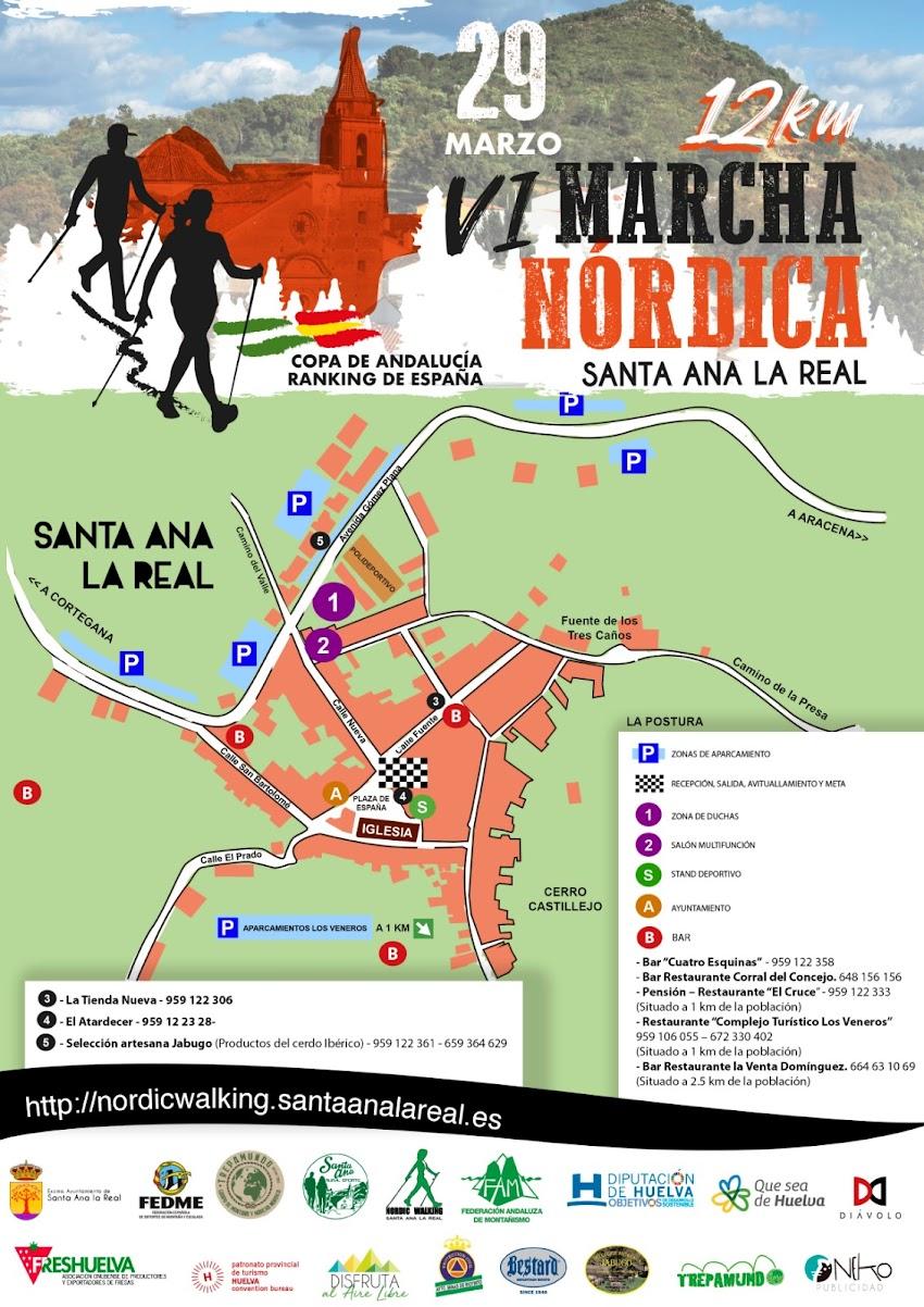 MAPA DE SERVICIOS VI MARCHA NÓRDICA SANTA ANA LA REAL 2020