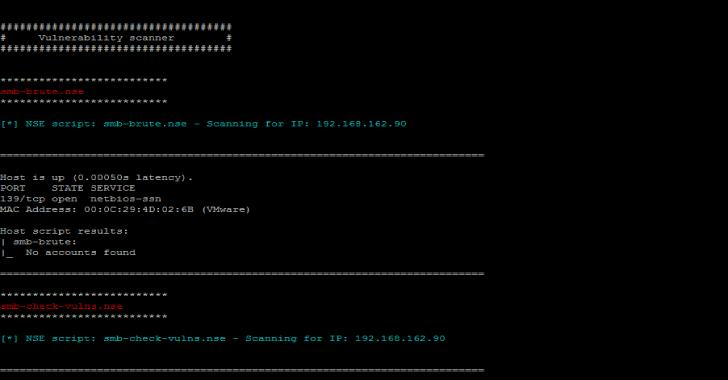 VScan : Vulnerability Scanner Tool Using nmap & nse Scripts