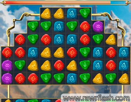 Jogos de puzzle online: Magic Stones