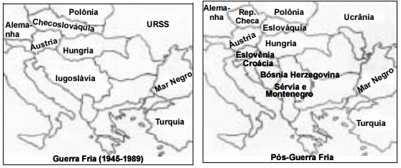 ENEM 2006: Os mapas a seguir revelam como as fronteiras e suas representações gráficas são mutáveis.