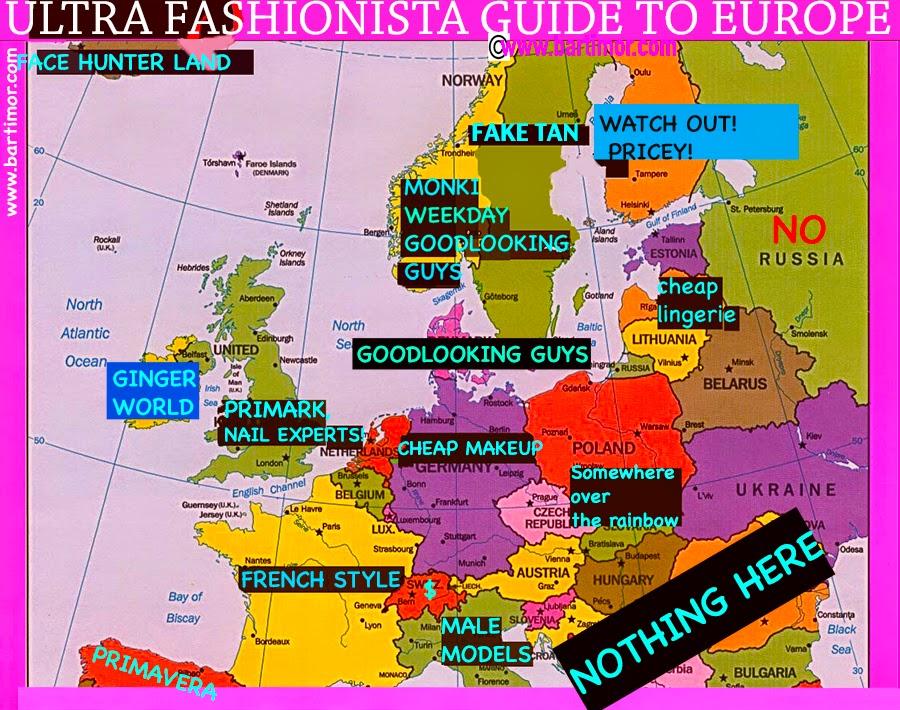 בלוג אופנה, fashionista guide to europe