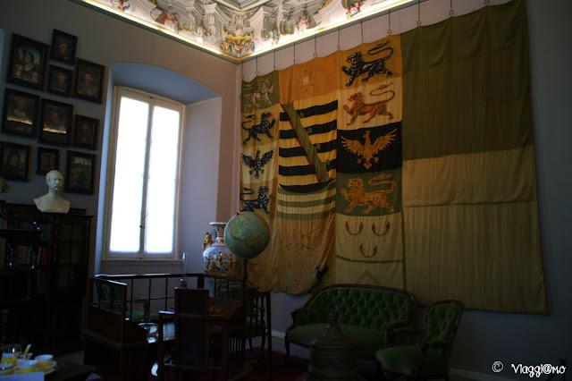Studio del Duca uno degli interni di Villa Carlotta sul Lago di Como