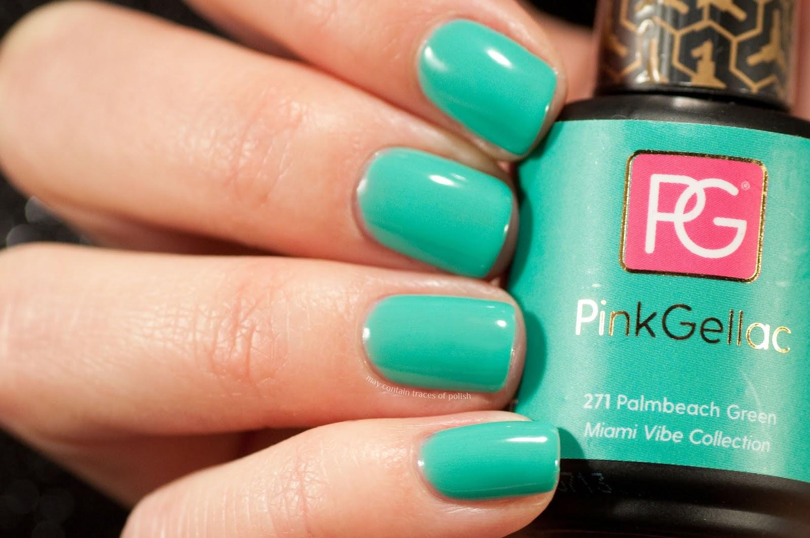 Pink Gellac Swatches -  271 Palmbeach Green
