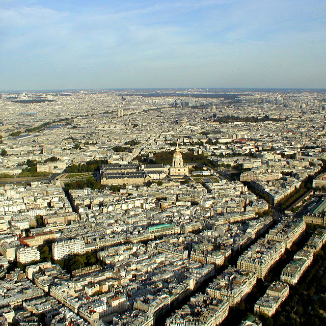 View of Paris from the Eiffel Tower. Photo by Loire Valley Time Travel.