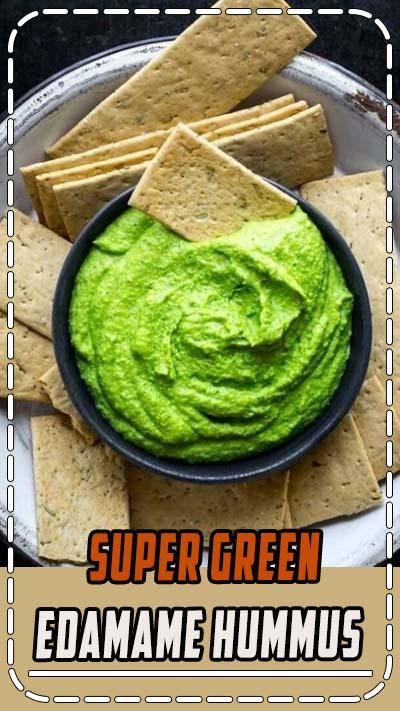 This protein packed edamame hummus is ready in 10 minutes and makes a yummy kid friendly snack! #edamame #hummus #snack #appetizer #healthy #vegan #glutenfree #plantbased #healthyseasonal