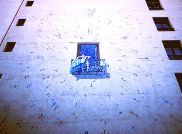 Medianería pintada en Lavapies en Madrid. Foto: Rodrigo L. Alonso