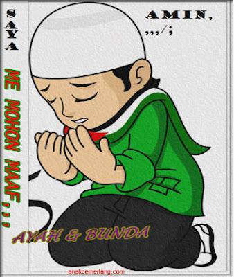 kartu ucapan idul fitri kartun untuk anak