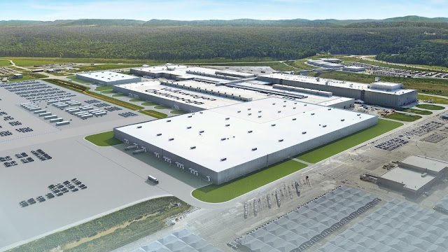 Image Attribute: Rendering of expansion for electric vehicle production, Volkswagen Chattanooga, TN / Photo ID: DB2019NR01162 / Source: Volkswagen AG