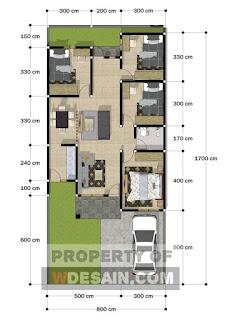 Desain Rumah Ukuran 8x12 Agar Tampak Lebih Luas
