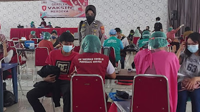 Gerilya Vaksin Merdeka Polres Tana Toraja, Alokasikan 100 Vial, Target 1000 Suntikan Vaksin