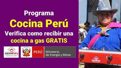 Verifica como recibir una Cocina a Gas GLP gratis como Beneficiario del #BonoGasFISE