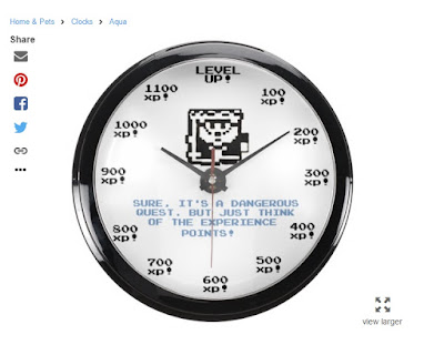 wall clock RPG video game gamer gaming gift idea christmas birthday ideas level up xp points retro experience