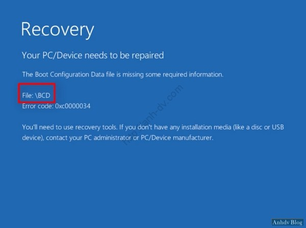 Sửa lỗi BCD, Winload.exe, Winload.efi bằng Mini Windows