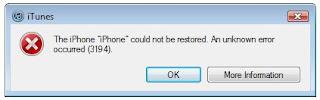 Cara Mengatasi error 3194 saat Restore iPhone, iPad, dan iPod Touch