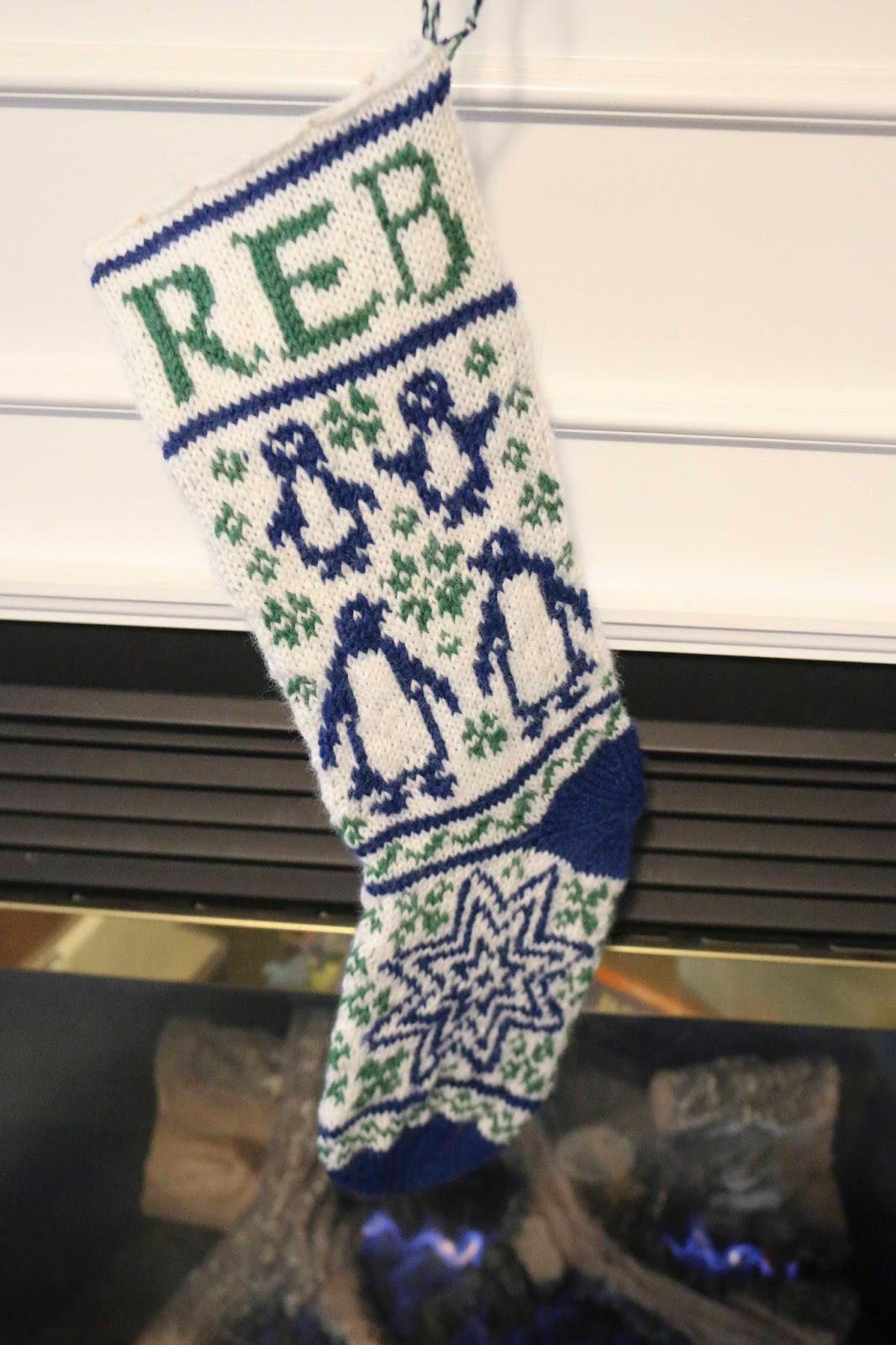 ChemKnits: Baby REB Christmas Stocking Knitting Pattern
