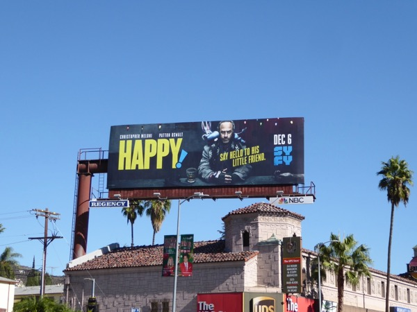Happy! series launch billboard