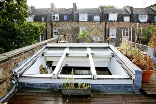 04-1st-Floor-Studio-Mews-Apartment-Camden-London-UK-Skylight-Roof-Terrace-Garden