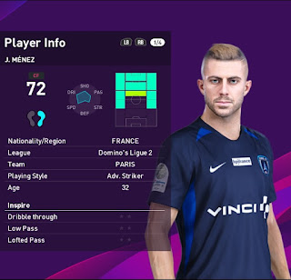 PES 2020 Faces Jeremy Menez by Sofyan Andri