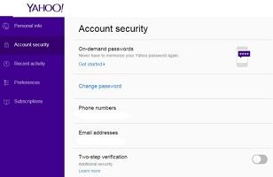 yahoo on demand password