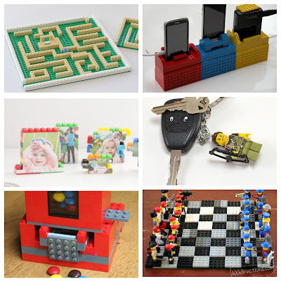 image lego diy craft ideas tutorial candy dispenser maze charging station picture puzzle chess set keyring keychain
