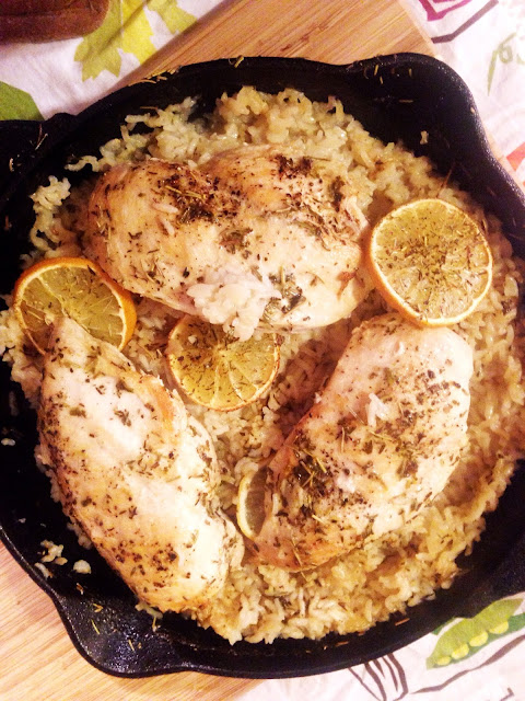 Lemon Herb Skillet Chicken and Rice
